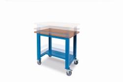 Kovové stoly výškově stavitelné- skladem