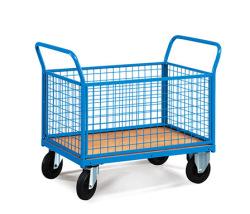 Plošinové vozíky s bočnicemi