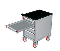Pojízdné zásuvkové skříně 587x800mm