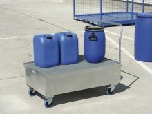 Pojízdná záchytná vana - zinkovaná