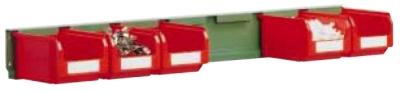 Lišta pro zavěšení zkosených přepravek FPM2551 včetně přepravek