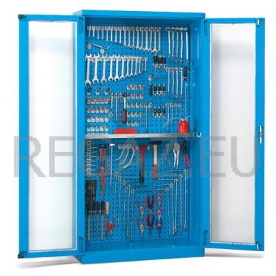 Skříň s polykarbonátovými křídlovými dveřmi