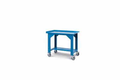 Ocelový stůl montovaný, výškově stavitelný š.1031mm, pojízdný