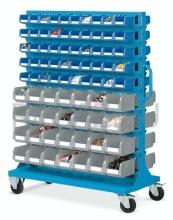 Vozík včetně plastových zásobníků