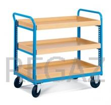 Manipulační vozík s dřevěnou základnou