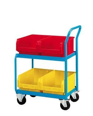 Vozík včetně čtyř zásobníků velikosti 4