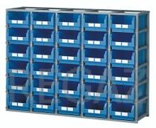 Regálový rám včetně 30 zásobníků velikosti 4