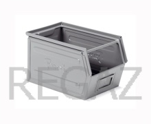 Zkosený kovový stohovací box
