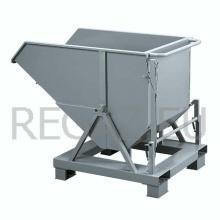 Vyklápěcí kontejner s podstavci pro paletový vozík
