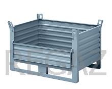 Kovový kontejner s výklopným předním čelem