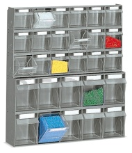 Nástěnný rám s vyklápěcími nádobami