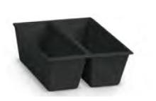Dělící box pro stohovací zásobníky, se 2 buňkami - recyklát