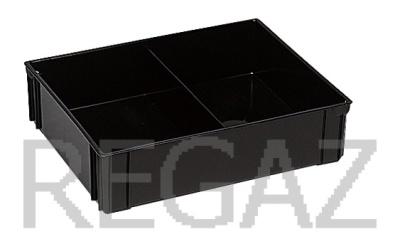Dělící box pro stohovací boxy série Athena, Thema, se 2 buňkami - recyklát