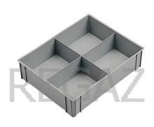 Dělící box pro stohovací boxy série Athena, Thema, se 4 buňkami