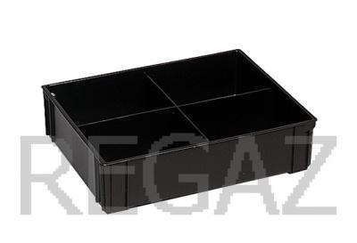 Dělící box pro stohovací boxy série Athena, Thema, se 4 buňkami - recyklát